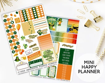 St. Patrick's Day Planner Sticker Kit | Made to fit the Mini Happy Planner