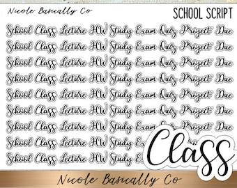 School Class Script Planner Stickers