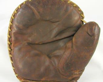 "Vintage Old Antique 1925 ""Stuffy McGinnis"" Oven Mitt Style First Baseman's Glove"
