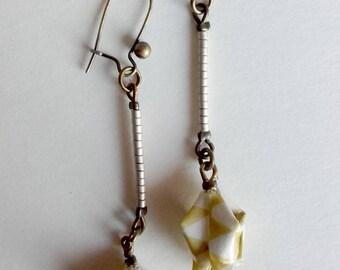 """""""Lotus stem"""" lotus earrings"""