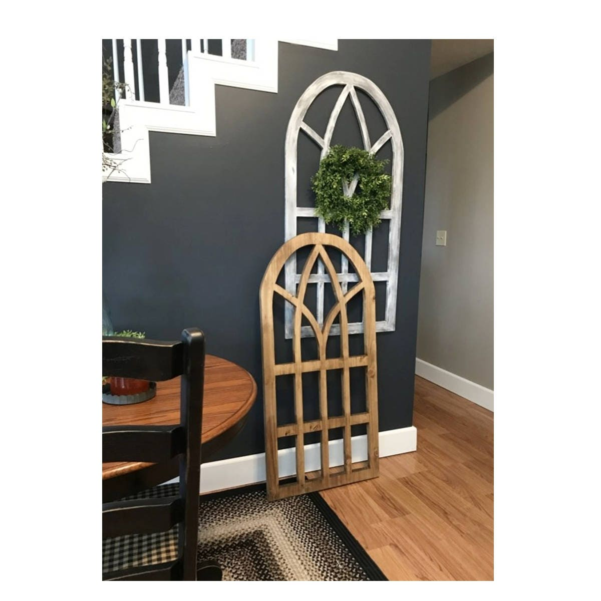 Arch Wood Window Wall Decor 24 X 48 3 4 Quality Maple