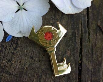 Legend of Zelda Boss Key Hard Enamel Pin (with glitter gem!)