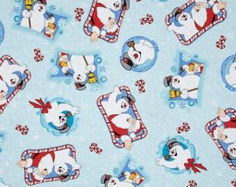 Frosty the Snowman Pale Blue / Bandana Bib or Traditional Bib