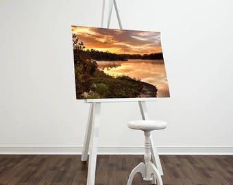 Foggy Lake Sunrise Canvas prints 8x10 12x18 16x20 Fine Art Landscape Photography Wall Art Home Decor