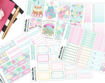 A La Carte Happy Birthday Weekly Kit for Happy Planner Planner Stickers