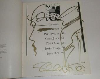 antonio lopez illustration antonios girls signed  original sketch first edition