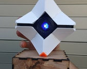 Destiny Ghost FULLY ASSEMBLED - 3D Printed With Custom Laser Cut Box, Magnets, & LED