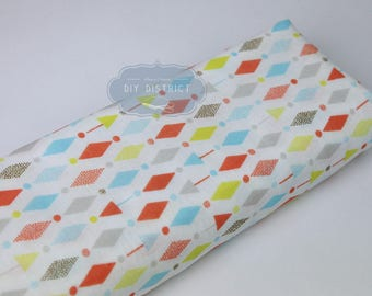 Japanese diamond print fabric double gauze