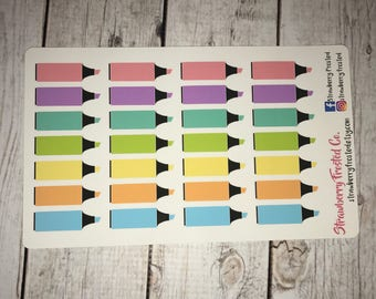 Highlighters in Pastels-Made to fit Vertical or Horizontal Layout