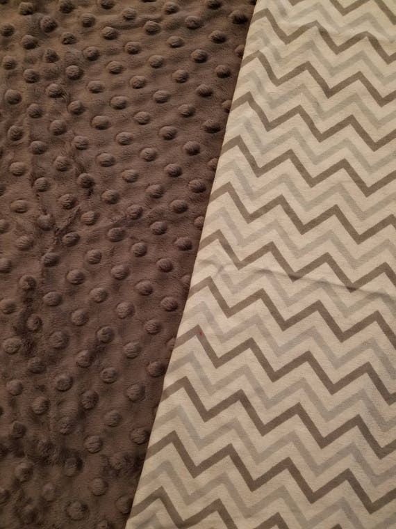 Gray Chevron, Weighted, Lap Pad/Small Blanket/Travel Weighted Blanket, 3 pounds,  14.5x22, Autism, SPD, PTSD, Small Weighted Blanket