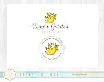 Fruit Logo Design, Food Blog Logo, Lemon Logo, Natural Food Logo, Organic Food logo, Grocery Logo, Watermark