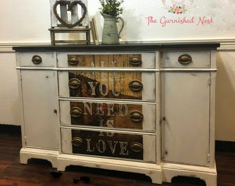 Ecclectic Antique Sideboard/Buffet/Server