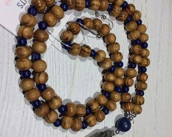 Kyanite & Lapis Lazuli Mala Beads