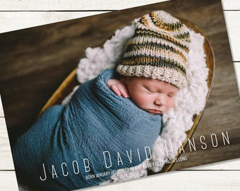 New Born Baby Birth Announcement Card Baby Announcement Template New Baby Card Birth Announcement Postcard Mailer Baby Annoucement