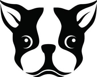 Boston Terrier Dog - Boston Terrier Dog Decal - Boston Terrier Dog Sticker - Dog Decal - Yeti Dog Decal - Boston Terrier Dog Car Decal