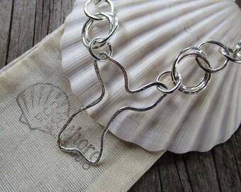Mama metal  modular jewelry Mermaid Tail fine silver centerpiece // ready to ship