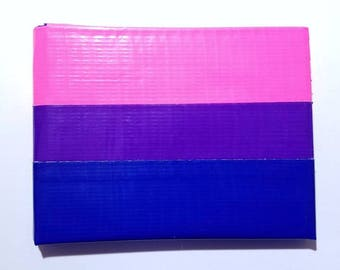 Bi Pride Flag Duct Tape Wallet