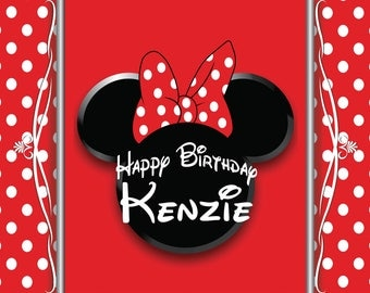 Minnie Mouse Birthday Personalized Printable Backdrop