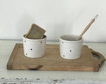 Vintage French ironstone cheese mold