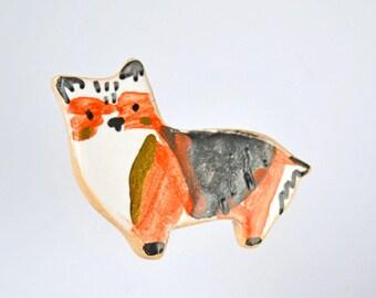 Adorable Corgi Brooch, Unique Corgi Lover Gift, Cute Dog Pin, Dog Lover Gift Idea,