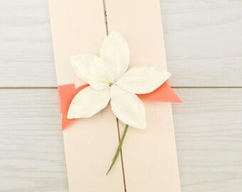 SAMPLE * Orchid Gatefold Wedding Invitation