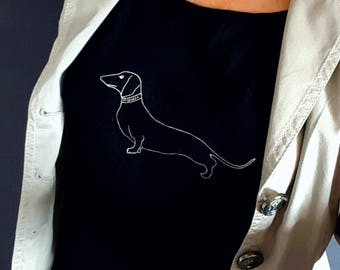 Sausage Dog Dachshund Womens T-shirt
