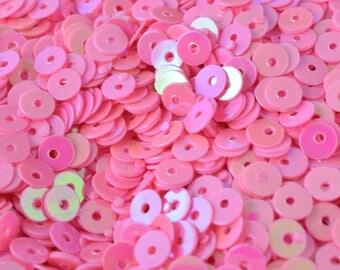 3/4/6mm Pink Iridescent Sequins Sheen Round Sequins/Loose Paillettes,Wholesale Sequins,Shimmering Sequin Apparel,Shoe Decor
