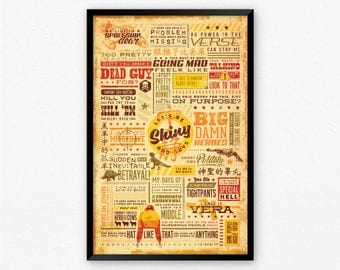 Firefly Serenity Quote Poster Vintage Typography | Geeky Movie Quote Word Art Sci-Fi Fan Gift