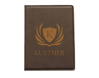 Passport Holder - Passport Cover Wallet Personalized (Rustic-Design 1)