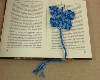 Bookmark crochet bookmarks Butterfly bookmark blue butterfly jewelry book, bookmark cotton crochet handmade bookmark