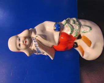 skier Ceramic figurine, Antique Figurines, Vintage statue, porcelain figurine, porcelain figurine, vintage collectible, USSR porcelain