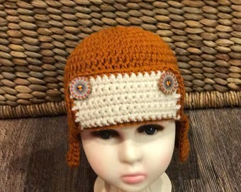 Beanie hat, Trapper hat, Toddler, Crochet,