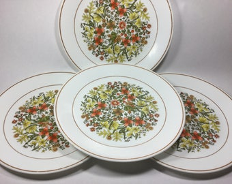 4 Corelle Dinner Plates in Indian Summer Pattern