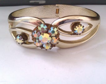 vintage spring hinged bangle