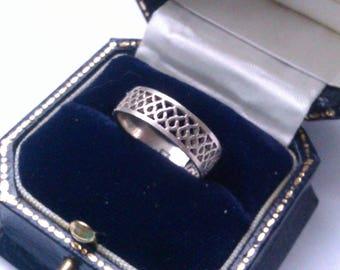 vintage 925 silver lattice ring