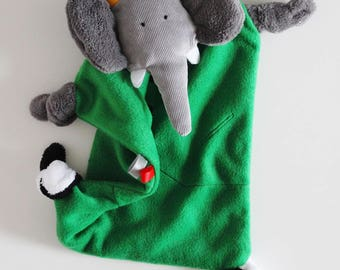 """""""Elephant blankie"""" fleece in choice of colors. """"Made to order""""."""