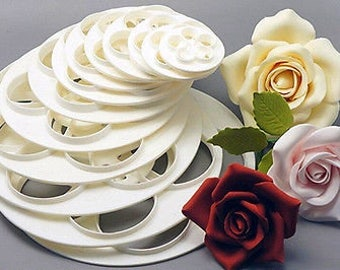Rose Blossoms Variety Sizes Cutter Set