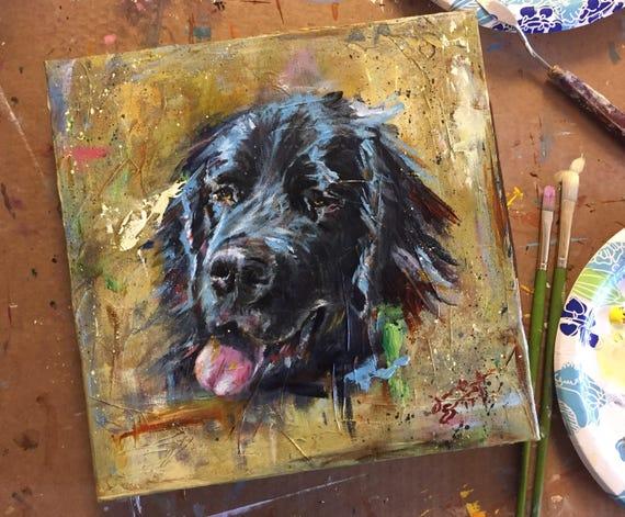 Custom Pet Portrait - Contemporary Acrylic Portrait - Various Size Available