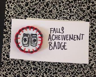 Roller Derby Achievement Badge- Falls