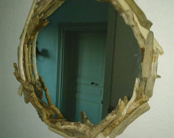 medium size mirror to hang various wood