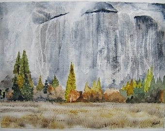 watercolor landscape yelomite