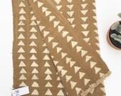 Mud Cloth Throw, Brass color, Mud Cloth rug, Pre-washed, Tribal Print, Home Decor