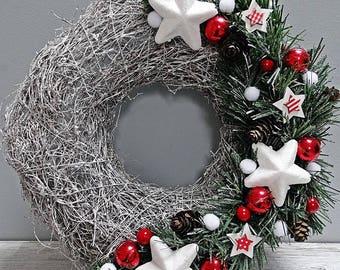 Christmas Wreath, Advent Wreath, Winter Wreath, Wreath On The Table, Holiday Wreath, Front Door Wreath, Home Decor, Handmade Wreath, Wreaths
