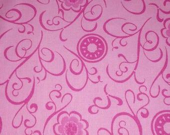 Beautiful pink print fabric