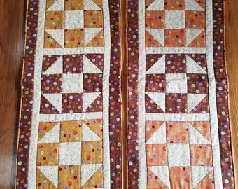 Fall Table Runners - gold or orange