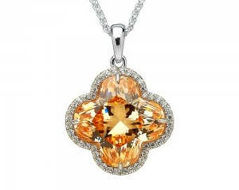 Colourful Champagne Flower Pendant