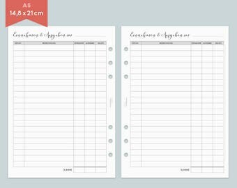 Financial overview - 20 sheets - A5