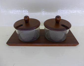 Danish Liithje Teak |ondiment Set