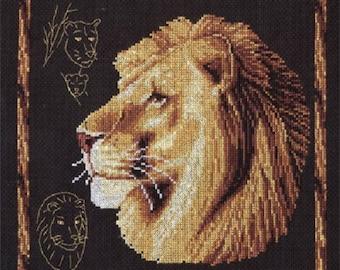 Cross Stitch Kit Lion
