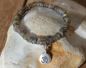 Bracelet labradorite heishi beads